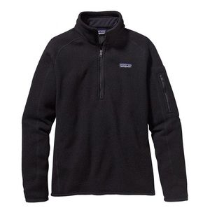 Patagonia half zip w/ mini zipper pocket.